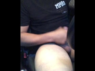 UBER driver was Fingering me and i gave him a Hot Blowjob and ate his Cum